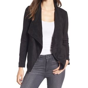 BB Dakota Drape Front Suede Jacket
